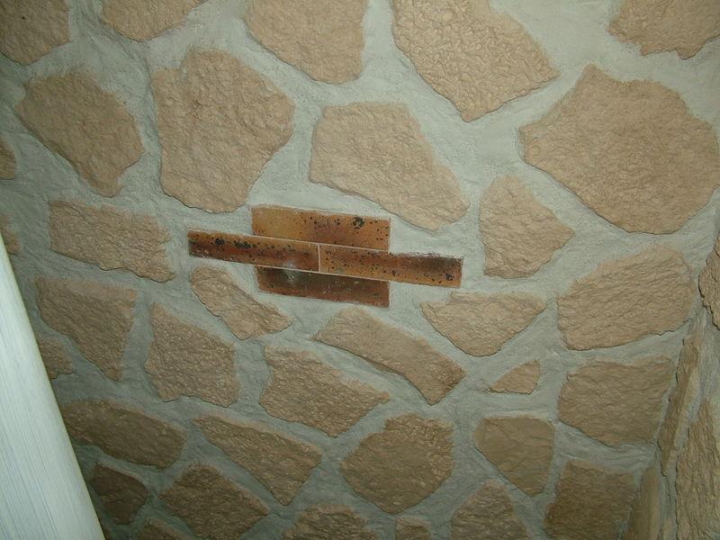 Un mur en parement.