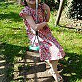 Une robe liberty betsy rose pour sixtine confectionnée par au pays des jolis pois