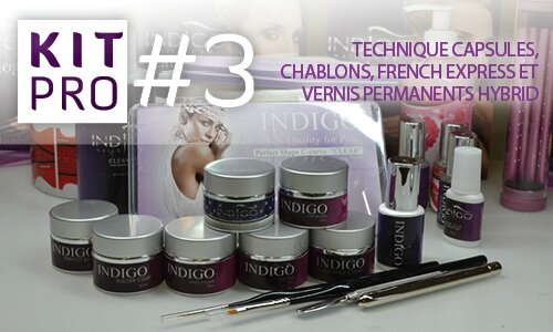 indigo nails kit pro 3 technique capsules chablons french express et vernis permanents. Black Bedroom Furniture Sets. Home Design Ideas
