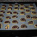 Spirale au chocolat ou bredeles (gateau alsacien)