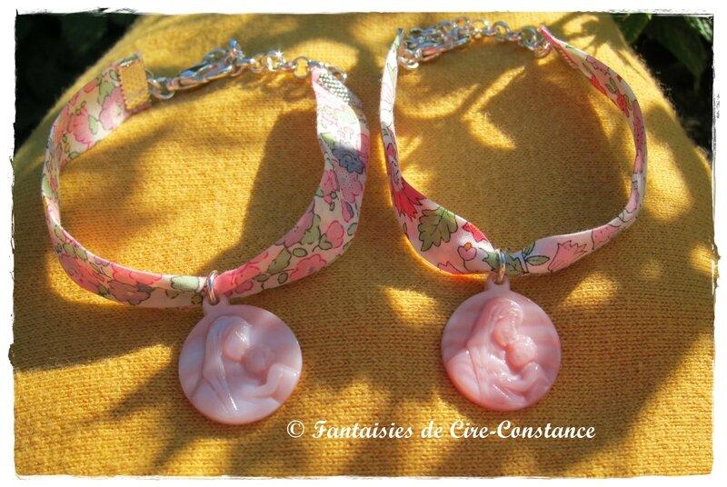 Bracelets Vierge enfant rose
