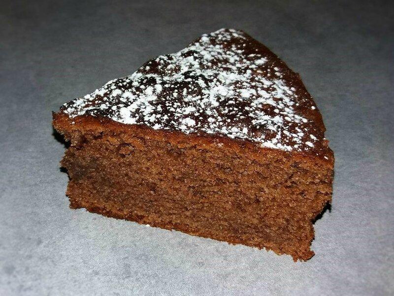 Part gâteau yaourt nutella (jaunes d'oeufs)
