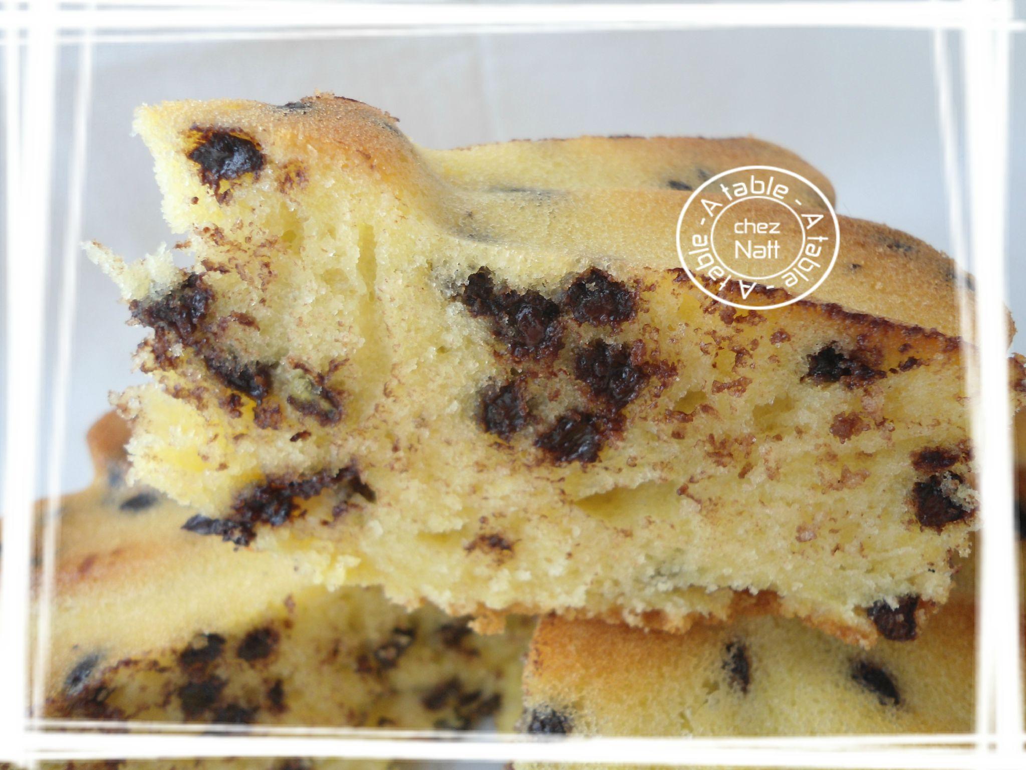 Recette cake au yaourt et pepites de chocolat