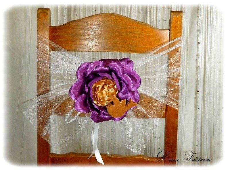 Noeud de chaise fleur mariage