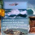 Marin et milema-arte , une vue de la mer...