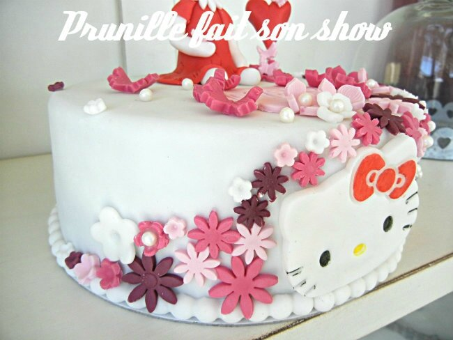 gateau hello kitty pâte a sucre prunillefee 2