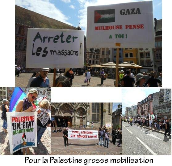 Grosse mobilisation pour la Palestine