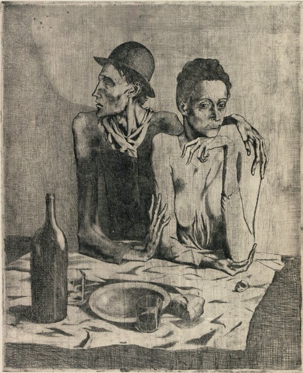 Le repas frugal_PICASSO, 1904
