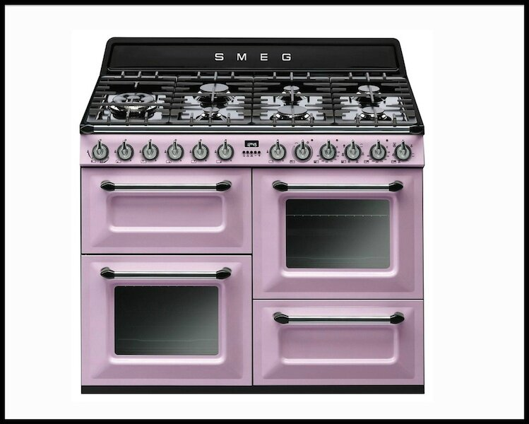 piano de cuisson rose pastel tr4110ro piano de cuisson bleu pastel tr4110ro smeg le blog. Black Bedroom Furniture Sets. Home Design Ideas