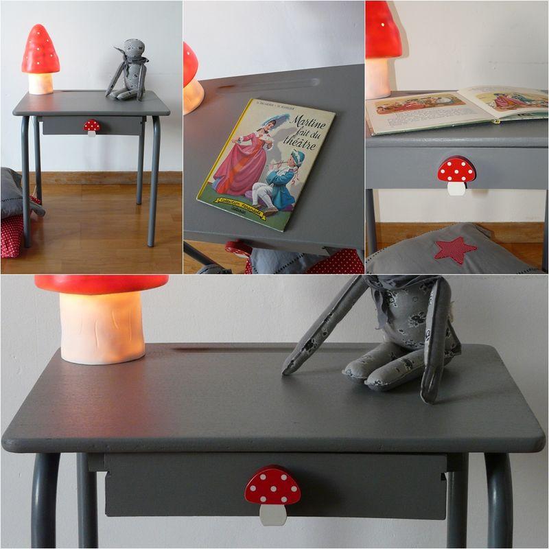 Tout gris et tout mimi entre deux chaises for Restauration meuble japonais