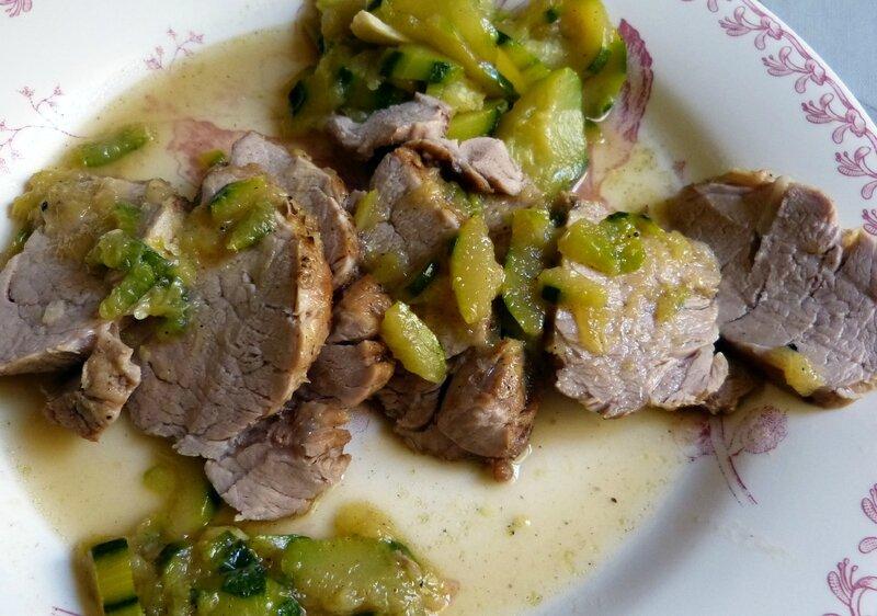 Filet mignon de porc en tuv e de courgettes bigmammy en - Cuisiner un filet mignon de porc en cocotte ...
