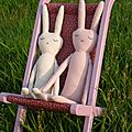 Celle qui a des lapins dans son jardin...