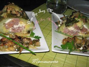 Mille-feuilles de courgette viande et ricotta 012