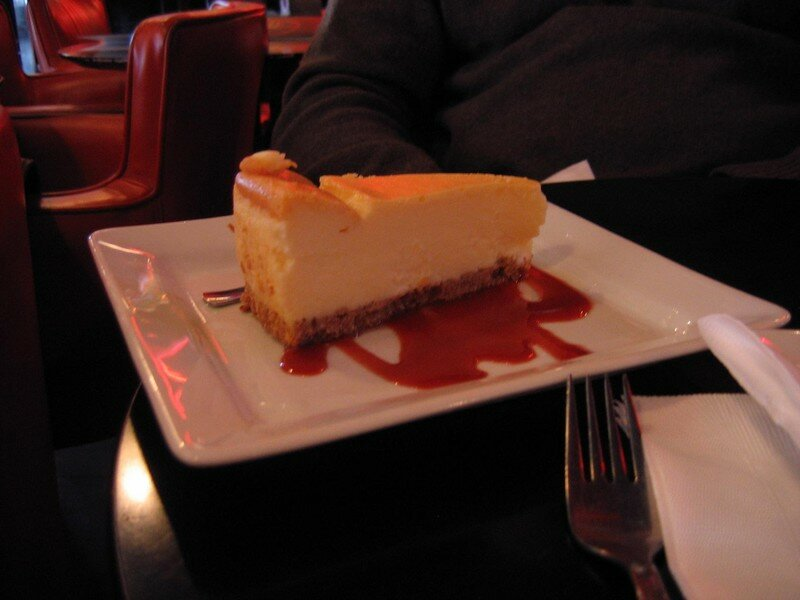 Cheesecake à l'Indian Café, Paris. Un délice !