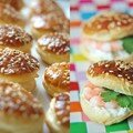 Mini burger feuillet