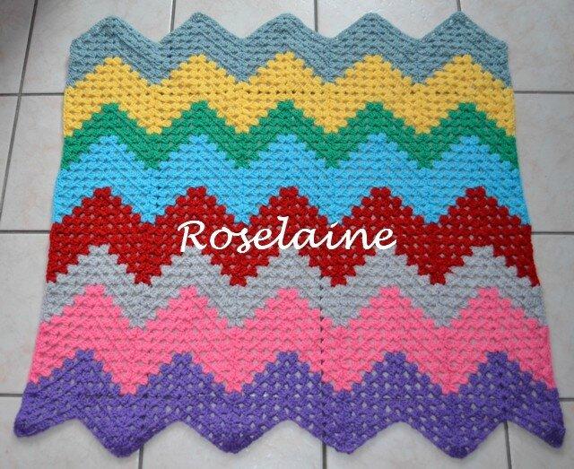 Roselaine ripple blanket