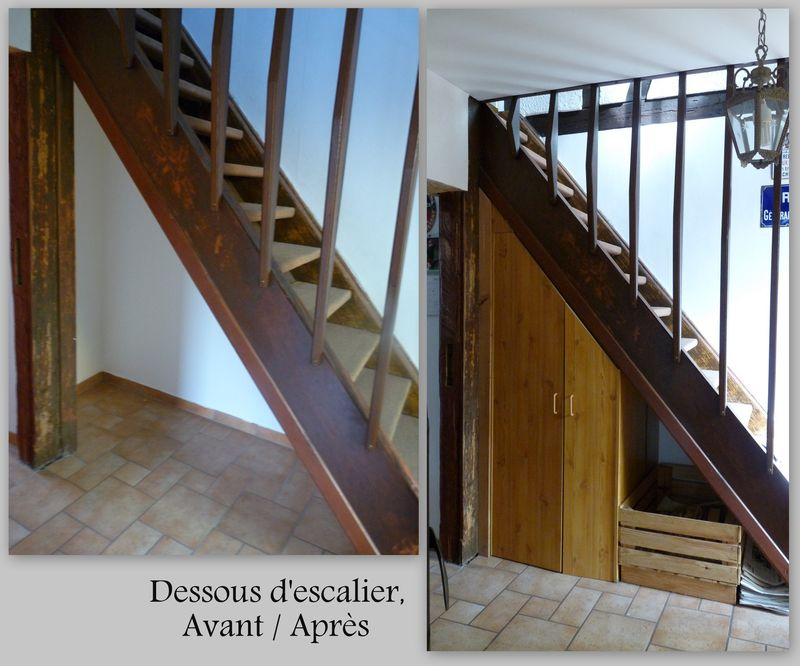 Escalier gain de place images - Comment customiser un escalier en bois ...