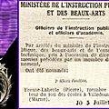 1925 dimanche 05 juillet : fresne-laherte officer d'académie