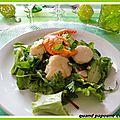 Salades melangees aux fruits de mer