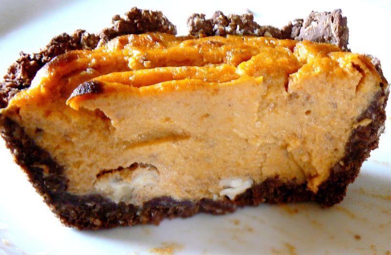 crousti flan potimarron chocolat noix 224 l agar agar minceur et sans gluten cuisine minceur