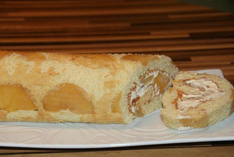 Roulé à la pomme et crème caramel beurre salé 1