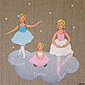 Danseuses étoiles, 30x30 cm