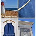 Robe bleue et or4