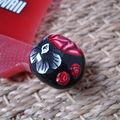Bague rouge noire