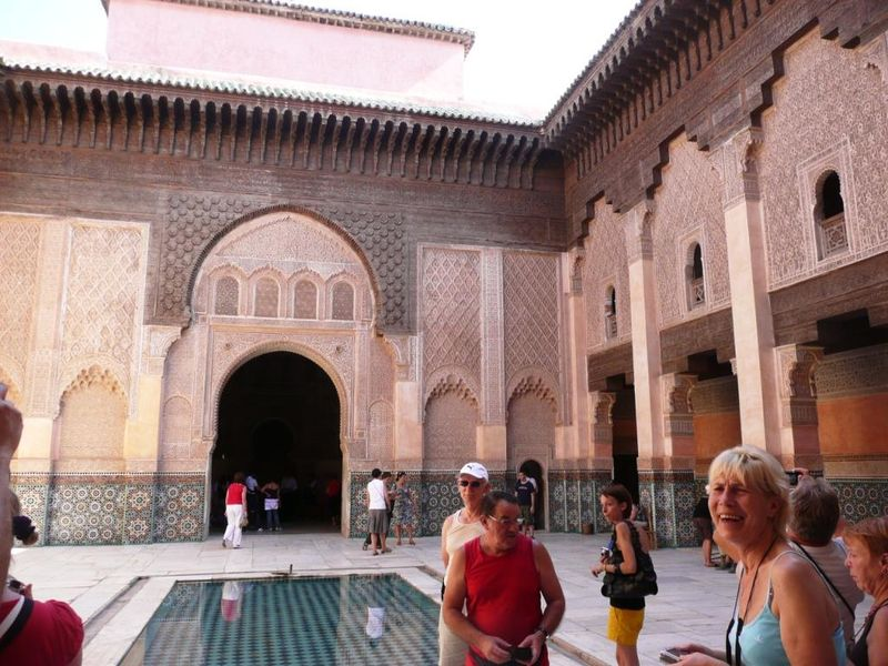 Medersa ben youssef marrakech la rouge for Architecture andalouse