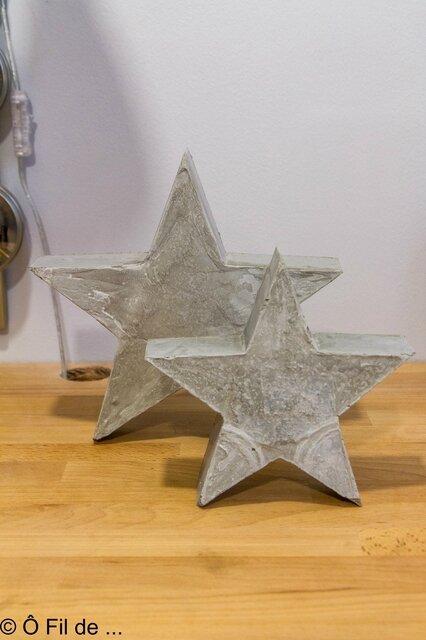 étoiles en béton
