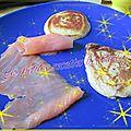 Blinis accompagné de son saumon fumé