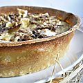 Quiche aux navets caramliss, camembert & noix