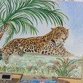 le jaguar sous son cocotier