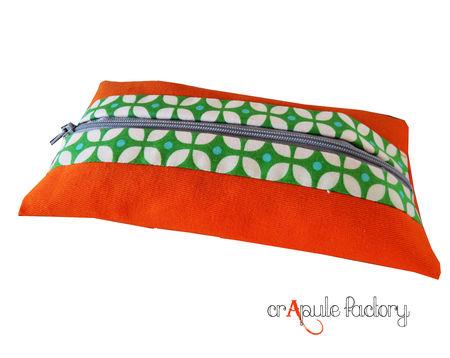 trousse_plate_orange_et_vintage_vert