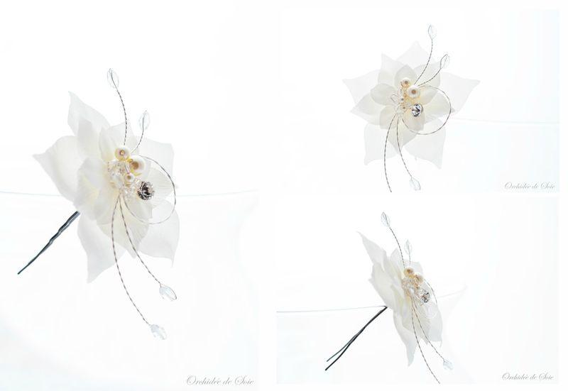 pic de chignon mariage fleurs en soie idylle ensemble