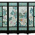 19th century chinese porcelain screen hits $121,000 at elite decorative arts auction
