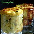 Flan aux asperges vertes, chorizo et parmesan