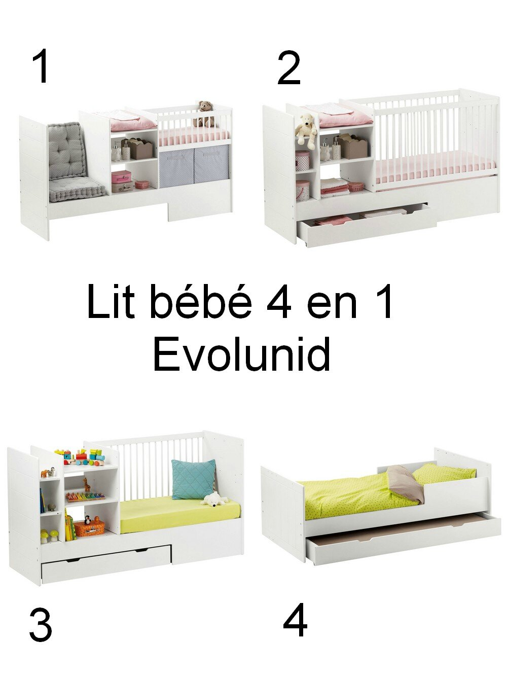 chambre b b 2 il tait une fois. Black Bedroom Furniture Sets. Home Design Ideas