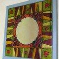Miroir peint à la main