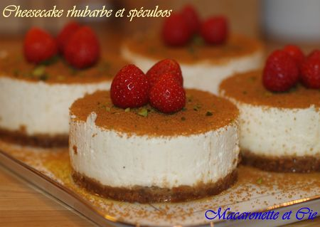 Cheesecake rhubarbe et sp culoos sans cuisson macaronette et cie - Cheesecake sans cuisson speculoos ...