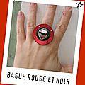 bague Véro rouge (b160)