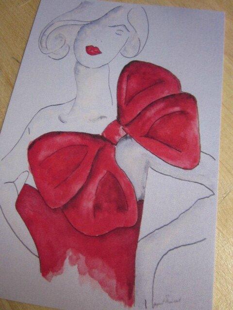 Carte postale - Le Noeud rouge (2)