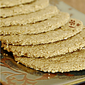 Scottish oatcakes, crackers à l'avoine