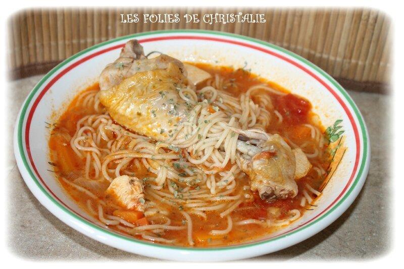 Soupe nouilles poulet 5