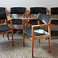 Lot de chaises casala 60's