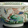 Grand bol en porcelaine de la famille verte. Chine, dynastie Qing, poque Kangxi (1662-1722)