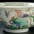Grand bol en porcelaine de la famille verte. chine, dynastie qing, époque kangxi (1662-1722)