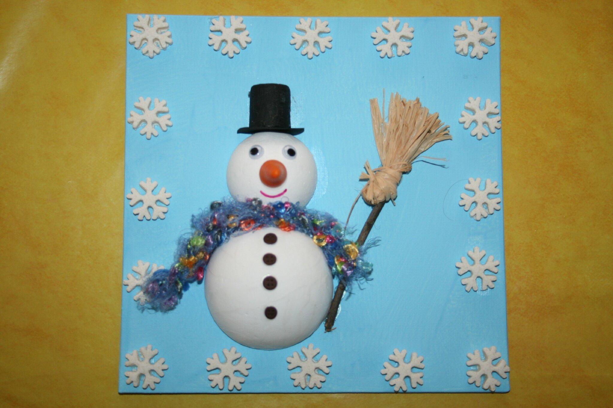 bonhomme de neige en boules polystyr ne les lutins cr atifs bricolage pour enfants. Black Bedroom Furniture Sets. Home Design Ideas