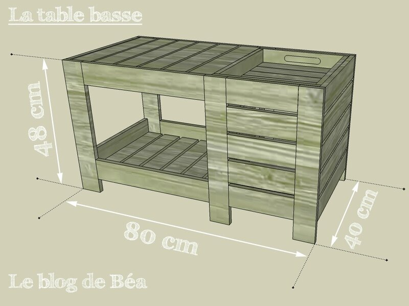 table basse en bois coffre. Black Bedroom Furniture Sets. Home Design Ideas