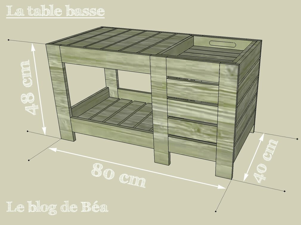 diy table basse en bois de palette avec coffre de rangement le blog de b a. Black Bedroom Furniture Sets. Home Design Ideas